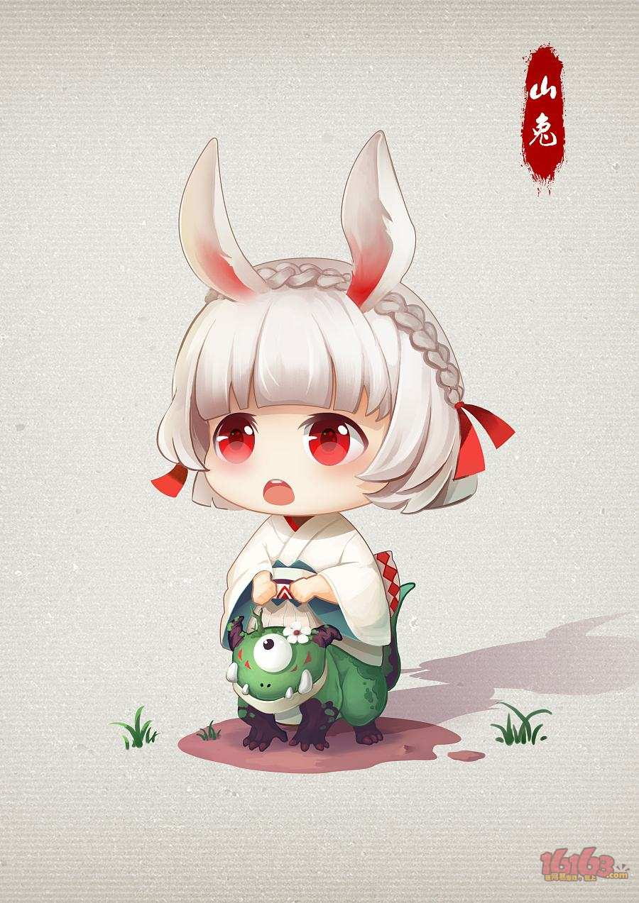 可爱乖巧的山兔