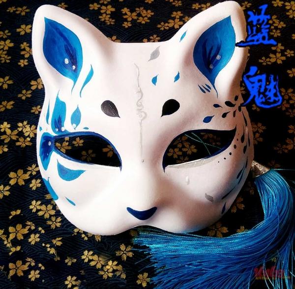 妖狐面具翠雀