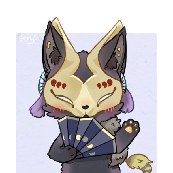 夜魅狐崽崽是黑色的小狐狸
