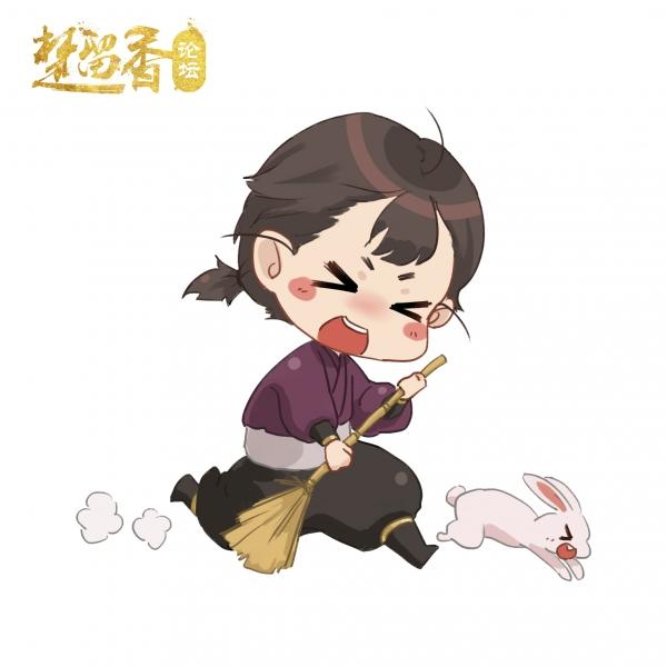 【江湖笔墨客】沧海萝莉吃个瓜Q版