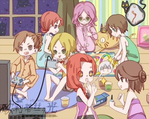 女生们的睡衣party