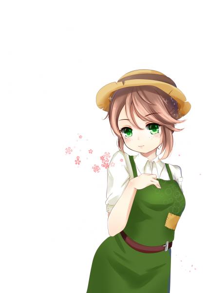 超漂亮的园丁小姐姐