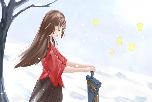 【江湖笔墨客】雪地沧海
