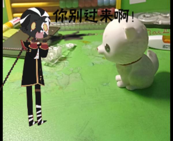 主题:小黑居然怕狗!昵称:魔系大于佛系