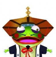 呱呱-青蛙瓷器证件照