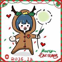 一张鹿小草贺卡_(:з」∠)_圣诞就要到咯!