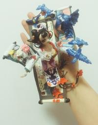 我的花鸟卷黏土作品