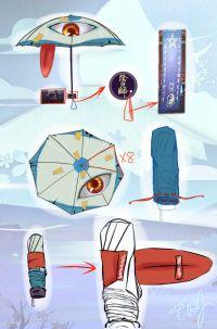 【唐纸扇妖】雨伞酱