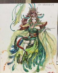 【玩家创作】【手绘】西王母--我想成为设计师