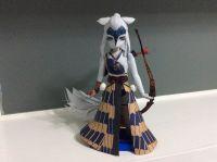 阴阳师白狼半身像纸模型