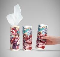 阴阳师抽纸,可以放在汽车上的水杯架上使用的纸巾