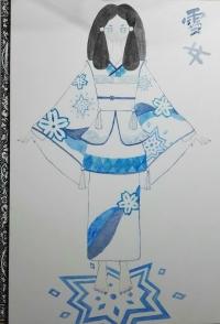 画画小白:纯手工水彩画——少妇雪女