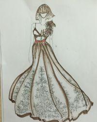 我是设计师+297015+折纸时代+系列姐妹礼服裙,哈哈!