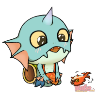 【大触团】专注表情包n年,小水鳍人(妈妈,它居然会动!)