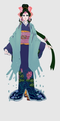 百绘罗衣—雨女皮肤
