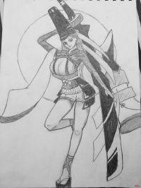 妖刀姬铅笔画